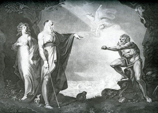 Caliban i Pròsper (La tempesta)
