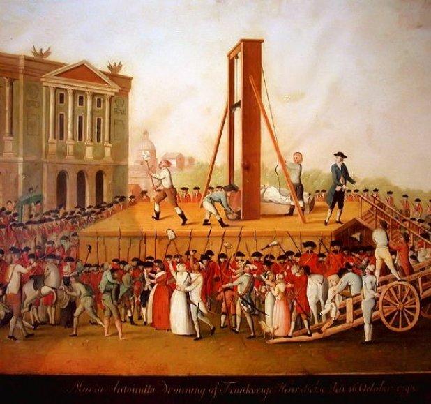 Execució de Maria Antonieta. Imatge extreta de Wikopedia Commons