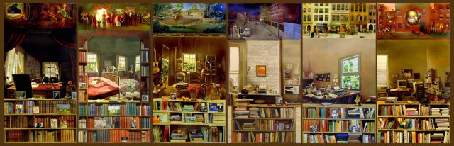 mural amb llibres