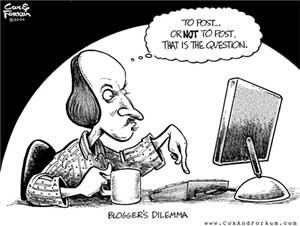 Caricatura sobre Shakespeare